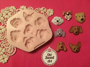 Cute Dogs,Puppies Silicone Mold Food Safe decoration toppers Cake Cupcake FDA