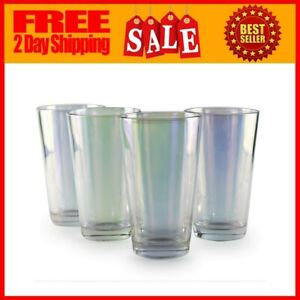 Drinking Glasses Radiance Heavy Base Highball Cooler 15.75 Ounce 4 Piece Set