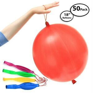 50-Pack of Jumbo Punching Ball Balloons for Parties - 18