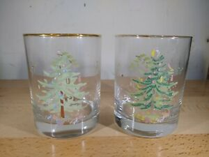Spode Christmas Tree Set of Four Double Old Fashioneds Glasses $20.00