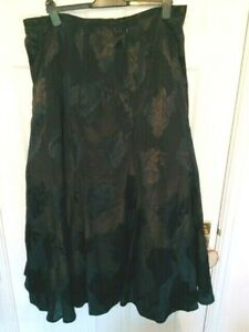 BNWT Full Black Satin Lined Skirt with Netting Beautiful Size 22 Gothic Punk
