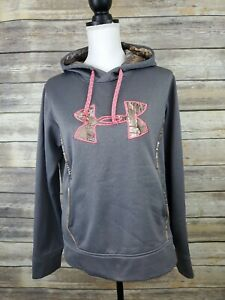 Under Armour Pullover Hoodie Gray & Pink Camo UA Storm Youth Medium M $17.99