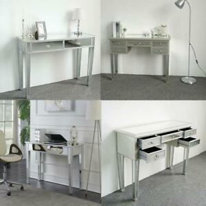 Modern Contemporary Mirrored Glass Accent Console Table Vanity Table Home Decor