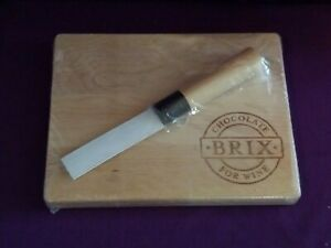 Brix Chocolate for Wine Cutting Board with Knife - New