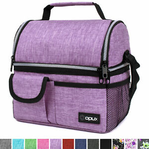 Insulated Lunch Bag Box for Women Men Thermos Cooler Hot Cold Adult Tote Food $16.99