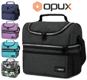 Double Deck Lunch Bag Dual Compartment for Women Men Work Office Insulated Box $16.99