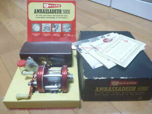 Super Rare Old ABU GARCIA Ambassador No.5000 Super Good Fishing Bait Reel