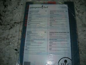 NEW Pampered Chef Set of 3 Flexible Cutting Mats Large 15x11in. 1519 Free ship