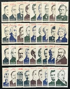 1986 Scott #2216 2219 22¢ PRESIDENTIAL SERIES 36 Singles Mint NH Full Set