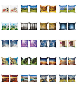 Ambesonne Scenery Print Cushion Cover Set of 2 for Couch and Bed in 4 Sizes $13.99