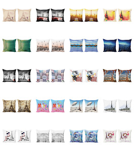 Ambesonne Paris Cushion Cover Set of 2 for Couch and Bed in 4 Sizes $13.99