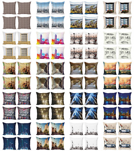 Ambesonne Urban Art Cushion Cover Set of 4 for Couch and Bed in 4 Sizes