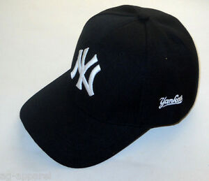 New York Yankees Cap Hat One Size New Black