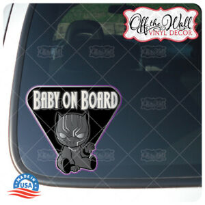 Baby Black Pantherquot;BABY ON BOARDquot; Sign Vinyl Decal Sticker for Cars Trucks