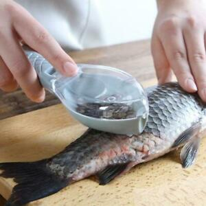 Fish Skin Brush Scraping Fishing Scale Grater Remover Knife Kitchen Peeler Tool