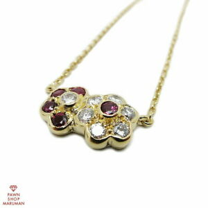 Van Cleef Arpels Gold Necklace 750YG × Ruby × Diamond Women Used Excellent $6555.00