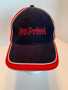 H12J New Zealand Down Under Mens Baseball Cap Hat Blue Red One Size $6.99