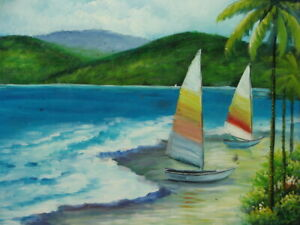 Scenic Water Landscape Oil Painting by Taylor 24