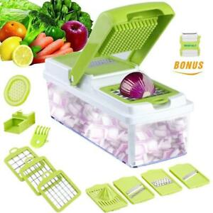 Vegetable Slicer Dicer WEINAS Food Chopper Cuber Cutter, Cheese Grater Multi