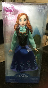NIB DISNEY STORE EXCLUSIVE FROZEN 12quot; Princess ANNA DOLL Classic Collection NEW $12.99