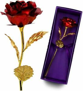 Gold Plated Rose Flower 24K Gold foil For Valentine's Day Gift LOVE Luxury Gifts