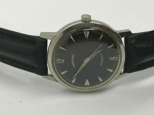 Vintage HAMILTON Automatic 666 Micro Rotor Stainless Ste Black Dial Men#x27;s Watch $299.99