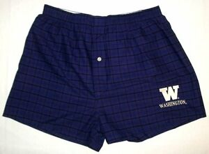 #121 Washington purple plaid under shorts XL 40 42 New with Tags $4.99