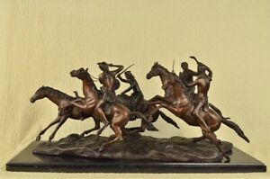 The Old Dragoons by Frederic Remington Lost Wax Bronze Sculpture Massive Figurin