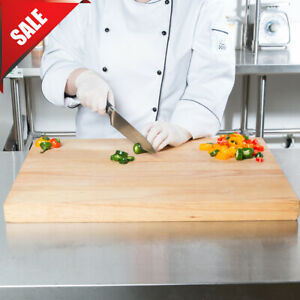 24 x 18 x 1 3/4 Wood Commercial Restaurant Solid Cutting Board Butcher Block New