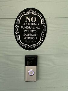 Funny NO SOLICITING SIGN OUTDOOR INDOOR plaque
