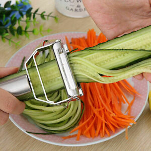 Stainless Steel Vegetable Slicer Cutter Knife Graters Fruit Kitchen Gadgets Tool