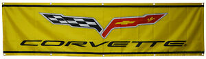Corvette Flag Car Racing 2x8ft Banner US Shipper