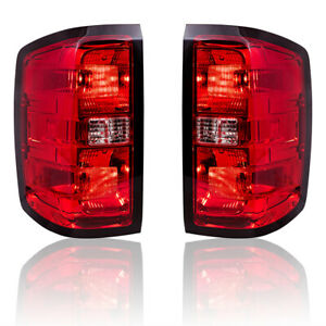 Tail Lights Performance Set fits 2014 2015 Silverado 15 Sierra w Simple Design