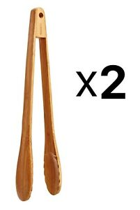 Norpro 12 Inch Bamboo Tongs (Pack of 2)