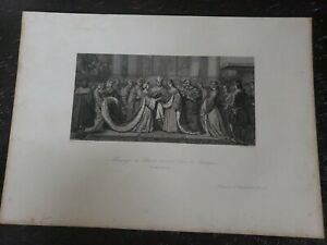 1800s Silver Engraved Lithographs (2) Louis The 12th Henry 8th