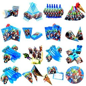 AVENGERS SUPERHERO Birthday Decoration Party Supplies Plate Tableware Balloons GBP 6.99