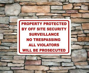 No Trespassing video surveillance security Sign Aluminum Metal  12