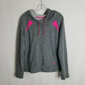UNDER ARMOUR Storm Womens Grey Pink Cold Gear Hoodie Sweater Size Large O416 $21.99