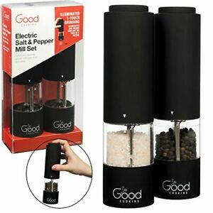 Electric Pepper Grinder and Salt Mill 2 Pack- One Touch Automatic Spice