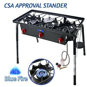 Camping Gas Propane Burner Stove Outdoor Three Cooking Burner Stove Gas Cooker