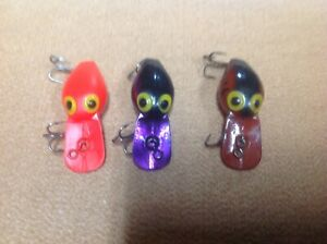 Lot Of 3 Storm Pre Rapala Wee Wart Fishing Lures. I Ship U S Only.
