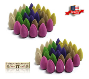 NEW Version Backflow Incense Burner Cones Mixed Flower Flavor Smoke Bullet Cone