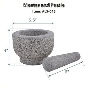 Marble Mortar and Pestle Grainte Set Stone Pestle and Mortar Spice Herb Grinder