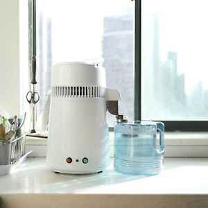 Countertop Water Distiller Stainless Steel Interior 4L with Plastic Bottle