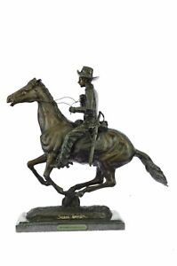 Trooper of the Plains Bronze Sculpture by Frederic Remington 17