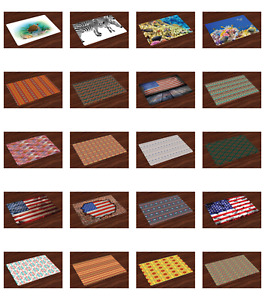 Place Mats 4 pcs Set Fabric Placemats Dining 12.4 x 18.4 Ambesonne $16.90