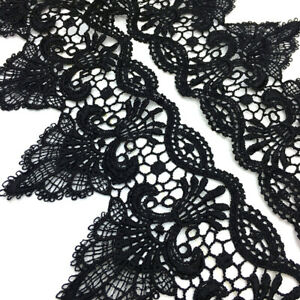 1 Yard Palace Flower Trim Embroidery 3D Lace Ribbon Edge Dress DIY Sewing Craft $2.53