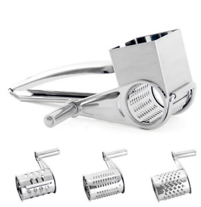 Rotary Cheese Grater -Stainless Steel Cheese Grater Shredder Cutter Grinder