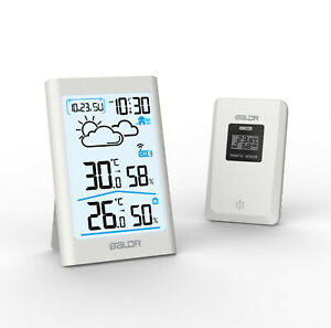 BALDR B0341 Indoor Outdoor Thermometer-Hygrometer LCD Weather Forecast w/ Sensor