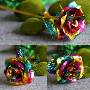 Artificial Decor 24K Gold Plated Rose Gold Foil Flower Valentines Day Gifts